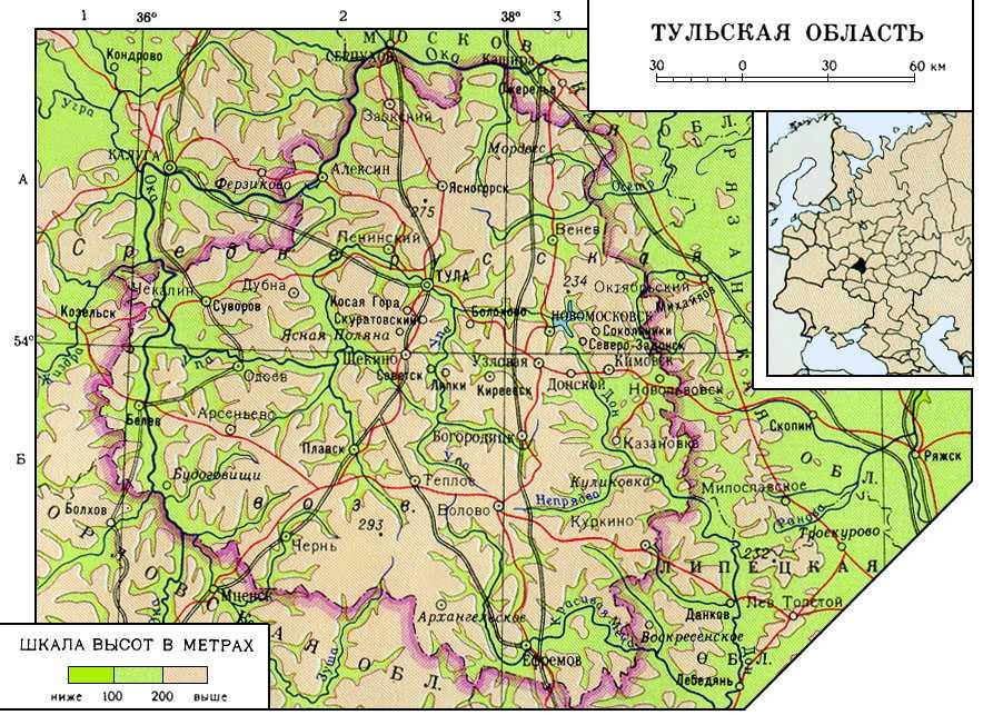 происходит тульская область на карте россии фото фотографов