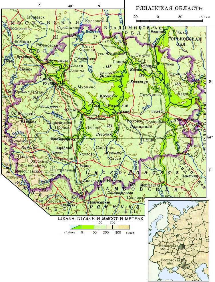 рязанская область карта картинка конце